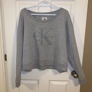 Calvin Klein Jeans cropped crew neck sweater